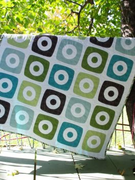 circle in sq. quilt