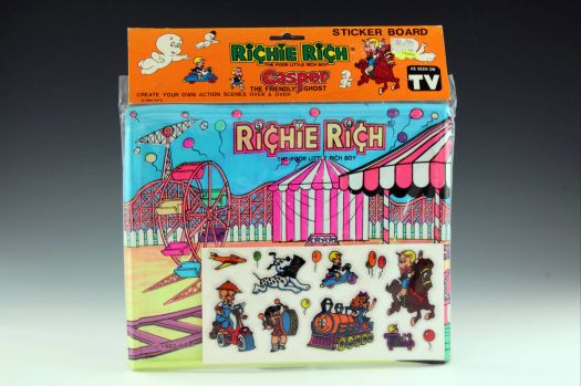 Richie Rich circus sticker board