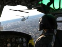 from the Cockpit of a UH-1 Huey helicopter