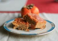 Persimmon Greek Yogurt Bars