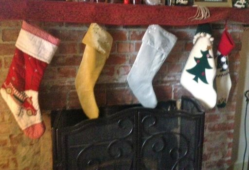 And the stockings were hung on the chimney with care