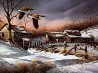 Winter Geese By Terry Redlin