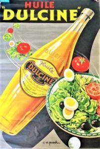 Themes Vintage ads - Huile Dulcine