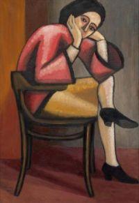 Gabriele Münter - Woman in Thought II, 1928