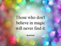 Wie niet in magie geloofd vind het nooit