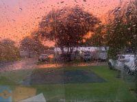 Albany sunrise through the rain and the windscreen