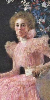 Lady in Pink   Gustave Kilmt