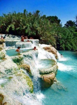Natural Jacuzzi in Saturnia, Italy