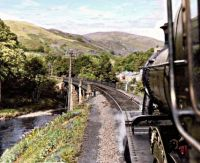 from the footplate