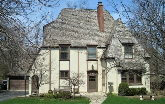 French Eclectic Style, Highland Park, Illinois, circa 1925
