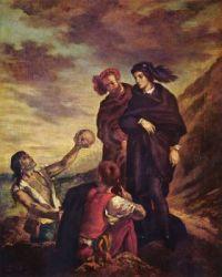 Delacroix-26_018 Hamlet with Horatio, (the gravedigger scene), 1839