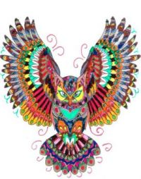 Fall Colors Coloring Owl