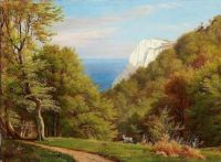"Carl Frederik Aagaard, ""Summer Day at Møns Klint"""