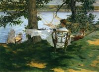 Irwing R. Wiles - Afternoon Tea on the Terrace