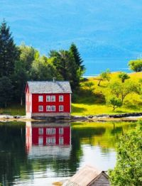 Old Red House in Norway....