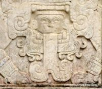 MEXICO – Yucatan – Chichen Itza – Glyph in El Osario Group