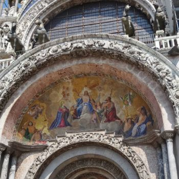 Painting over a Cathedral entrance