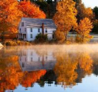 Autumn at the House, Reflecting by the Lake....