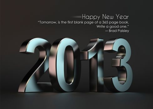 New year 2013 .. blank page