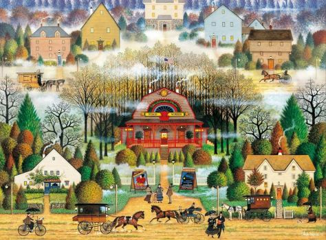 For Donnajennifer - A rainy day by Charles Wysocki