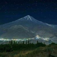 Damavand Iran night from Nava village