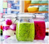 Refrigerated, Pureed, and Chopped Food Storage, in Glass Clamping  Jars