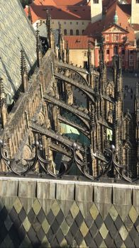 Flying buttresses, Prague Cathedral