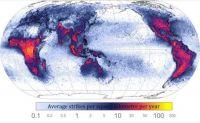 MAPS-Lightning strikes around the world