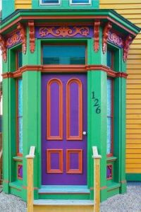 Door in Lunenburg, Nova Scotia, Canada