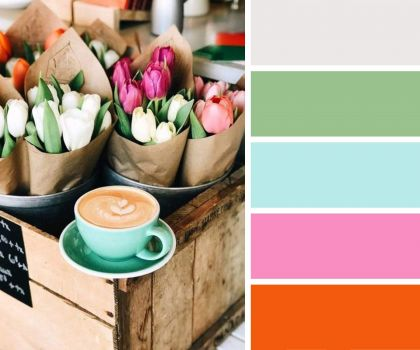 Latte and Tulips