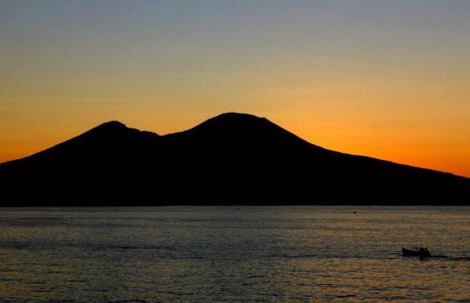 Mt. Vesuvius at sunrise -  Naples, Italy