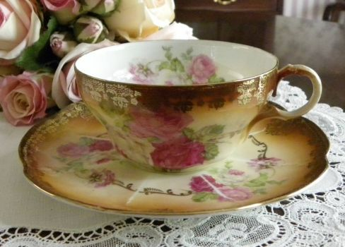 Beautiful Cup and Saucer . . . and Lace