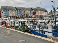 Quaint fishing village in France