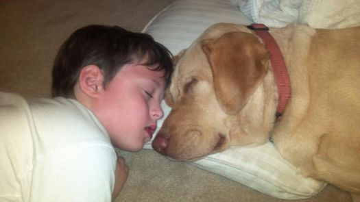 A boy and his dog............