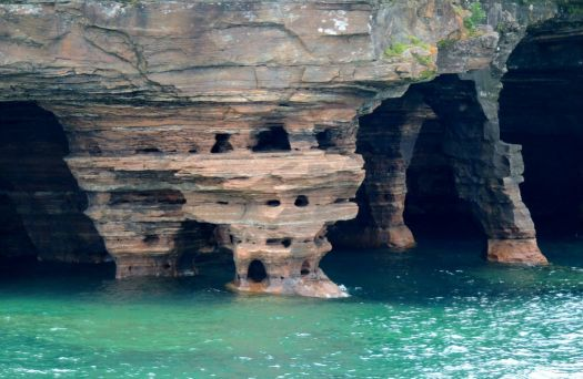 Sea Caves on Devil's Island (one of the Apostle Islands)