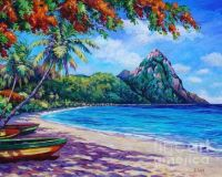 Soufriere Bay St. Lucia by John Clark
