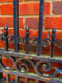 Old Iron Gate  & Brick Wall