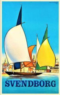 Themes Vintage Travel Poster - Svendborg Denmark