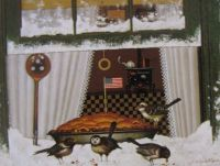 {Charles Wysocki} Birds In A Pie