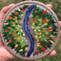 Landscape Embroidery - River