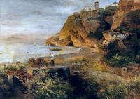 Ischia, before 1900 by Oswald Achenbach