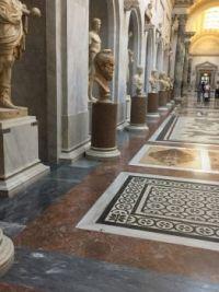 A quiet hallway in the Vatican