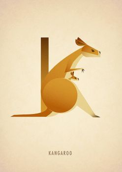 Animal Alphabet - K is for Kangaroo