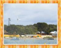 Our Trip. Our First View of Rottnest Island.  Larger.