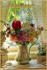 Flowers in a Lovely Pitcher-Vase