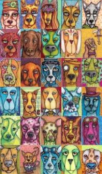 Dog colllage art project