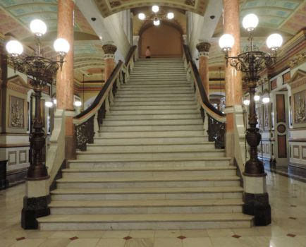 Stairs in the New State Capitol - Il.