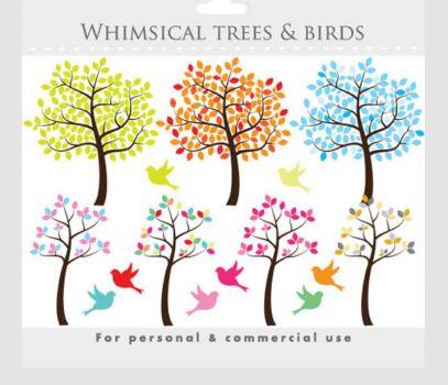 whimsical trees clip art