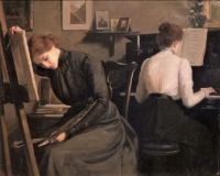 Painter and pianist 1910 Lionello Balestrieri