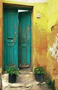 Rustic Building Entrance